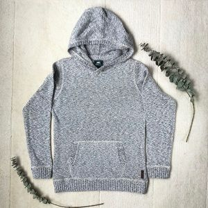 Roots | Youth Kanga Hoodie Salt and Pepper Knit